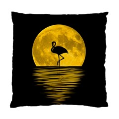 Moon Reflection Flamenco Animal Standard Cushion Case (one Side) by Simbadda