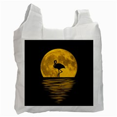 Moon Reflection Flamenco Animal Recycle Bag (two Side)