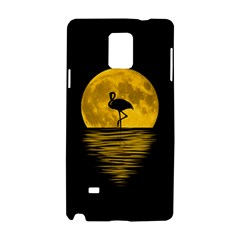 Moon Reflection Flamenco Animal Samsung Galaxy Note 4 Hardshell Case