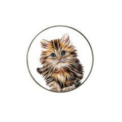 Kitten Mammal Animal Young Cat Hat Clip Ball Marker (10 Pack)