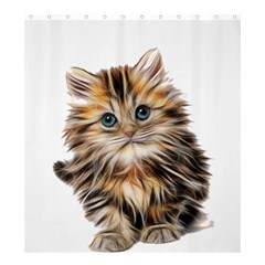 Kitten Mammal Animal Young Cat Shower Curtain 66  X 72  (large)