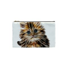 Kitten Mammal Animal Young Cat Cosmetic Bag (small)