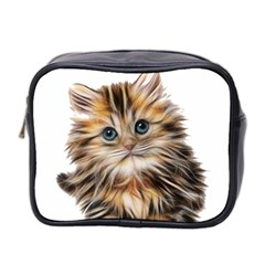 Kitten Mammal Animal Young Cat Mini Toiletries Bag 2 Side