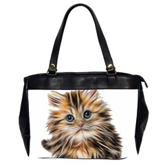 Kitten Mammal Animal Young Cat Office Handbags (2 Sides)  by Simbadda