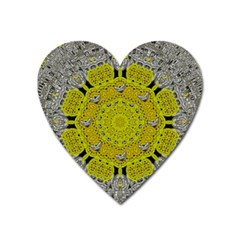 Sunshine And Silver Hearts In Love Heart Magnet by pepitasart