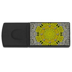 Sunshine And Silver Hearts In Love Rectangular Usb Flash Drive by pepitasart