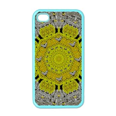 Sunshine And Silver Hearts In Love Apple Iphone 4 Case (color) by pepitasart