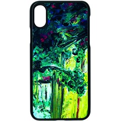 Old Tree And House With An Arch 3 Apple Iphone X Seamless Case (black)
