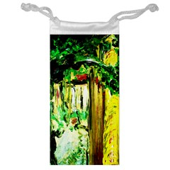Old Tree And House With An Arch 4 Jewelry Bag by bestdesignintheworld