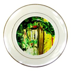 Old Tree And House With An Arch 4 Porcelain Plates by bestdesignintheworld