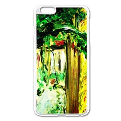Old Tree And House With An Arch 4 Apple Iphone 6 Plus/6s Plus Enamel White Case by bestdesignintheworld