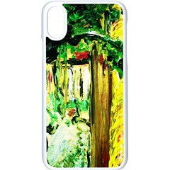 Old Tree And House With An Arch 4 Apple Iphone X Seamless Case (white) by bestdesignintheworld