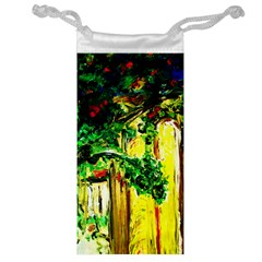 Old Tree And House With An Arch 2 Jewelry Bags by bestdesignintheworld