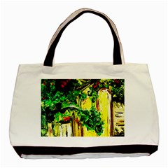 Old Tree And House With An Arch 2 Basic Tote Bag by bestdesignintheworld