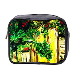 Old Tree And House With An Arch 2 Mini Toiletries Bag 2 Side by bestdesignintheworld
