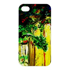 Old Tree And House With An Arch 2 Apple Iphone 4/4s Premium Hardshell Case by bestdesignintheworld