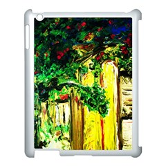 Old Tree And House With An Arch 2 Apple Ipad 3/4 Case (white) by bestdesignintheworld