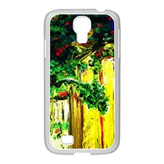 Old Tree And House With An Arch 2 Samsung Galaxy S4 I9500/ I9505 Case (white)
