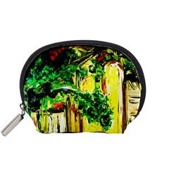 Old Tree And House With An Arch 2 Accessory Pouches (small)  by bestdesignintheworld
