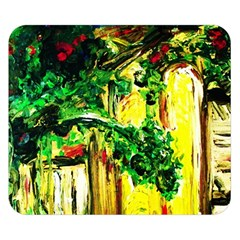 Old Tree And House With An Arch 2 Double Sided Flano Blanket (small)  by bestdesignintheworld