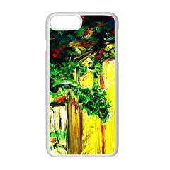 Old Tree And House With An Arch 2 Apple Iphone 7 Plus Seamless Case (white) by bestdesignintheworld