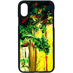 Old Tree And House With An Arch 2 Apple Iphone X Seamless Case (black) by bestdesignintheworld
