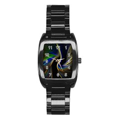 Church Abstract Stainless Steel Barrel Watch by bywhacky