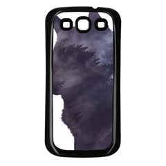Grey Wolf  Samsung Galaxy S3 Back Case (black) by StarvingArtisan