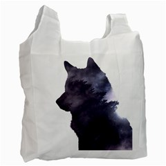 Grey Wolf  Recycle Bag (two Side)  by StarvingArtisan