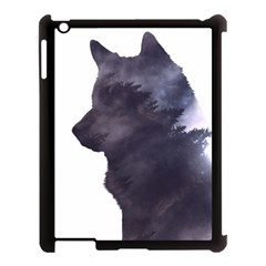 Grey Wolf  Apple Ipad 3/4 Case (black) by StarvingArtisan
