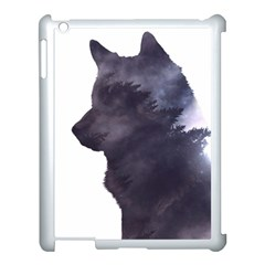 Grey Wolf  Apple Ipad 3/4 Case (white) by StarvingArtisan