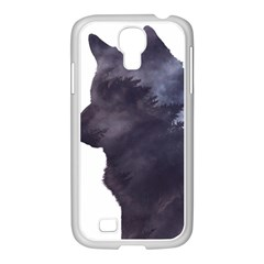 Grey Wolf  Samsung Galaxy S4 I9500/ I9505 Case (white) by StarvingArtisan