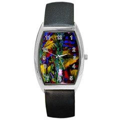 Night At The Foot Of Fudziama 1 Barrel Style Metal Watch by bestdesignintheworld