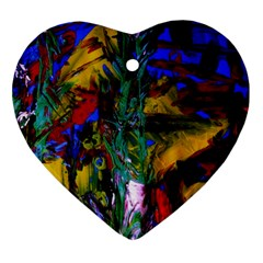 Night At The Foot Of Fudziama 1 Heart Ornament (two Sides) by bestdesignintheworld