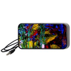 Night At The Foot Of Fudziama 1 Portable Speaker by bestdesignintheworld