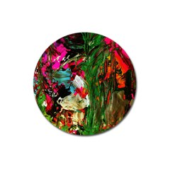 Sunset In A Mountains 1 Magnet 3  (round) by bestdesignintheworld