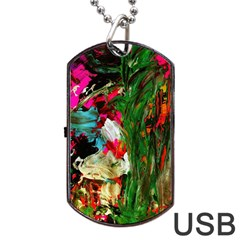 Sunset In A Mountains 1 Dog Tag Usb Flash (two Sides) by bestdesignintheworld