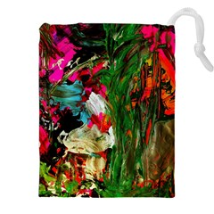 Sunset In A Mountains 1 Drawstring Pouches (xxl) by bestdesignintheworld