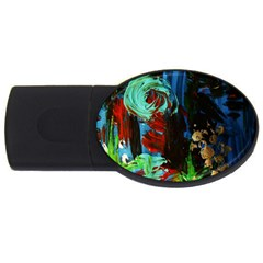 Night At The Foot Of Fudziama 2 Usb Flash Drive Oval (2 Gb) by bestdesignintheworld