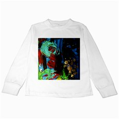 Night At The Foot Of Fudziama 2 Kids Long Sleeve T-shirts by bestdesignintheworld