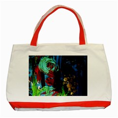 Night At The Foot Of Fudziama 2 Classic Tote Bag (red) by bestdesignintheworld