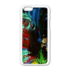 Night At The Foot Of Fudziama 2 Apple Iphone 6/6s White Enamel Case by bestdesignintheworld