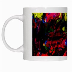 Night, Pond And Moonlight 1 White Mugs by bestdesignintheworld