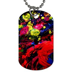 Night, Pond And Moonlight 1 Dog Tag (one Side) by bestdesignintheworld