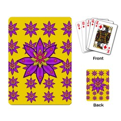 Fantasy Big Flowers In The Happy Jungle Of Love Playing Card