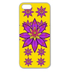 Fantasy Big Flowers In The Happy Jungle Of Love Apple Seamless Iphone 5 Case (clear) by pepitasart