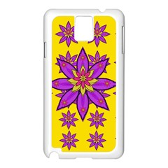 Fantasy Big Flowers In The Happy Jungle Of Love Samsung Galaxy Note 3 N9005 Case (white) by pepitasart