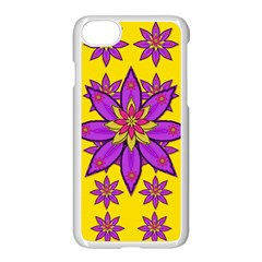 Fantasy Big Flowers In The Happy Jungle Of Love Apple Iphone 8 Seamless Case (white) by pepitasart