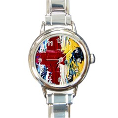 Point Of View #2 Round Italian Charm Watch by bestdesignintheworld