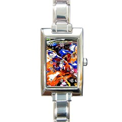 Smashed Butterfly Rectangle Italian Charm Watch by bestdesignintheworld